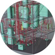 3d cad of a detergent processing plant
